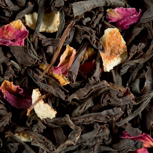 thé noir citron caviar rose
