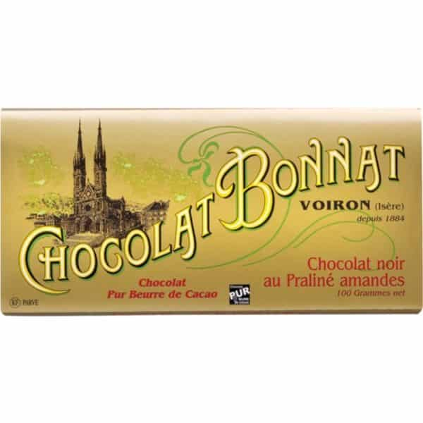 Chocolat noir praliné amande chocolat bonnat